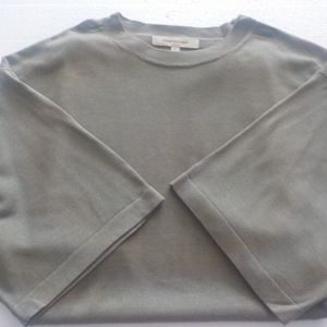 Pronto-Uomo Silk Taupe Short Sleeve Sweater